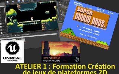 La mise en place d'un projet de jeu de plates-formes 2D avec Unreal Engine 4 (ATL01)